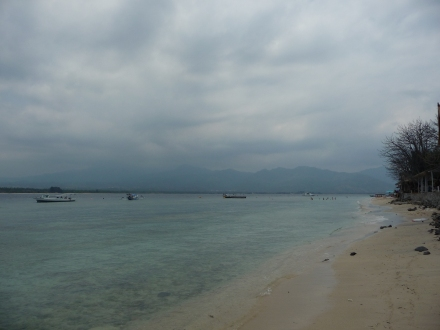 A cloudy afternoon on Gili Air