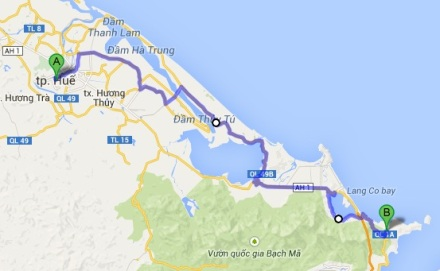 Our Route From Hue