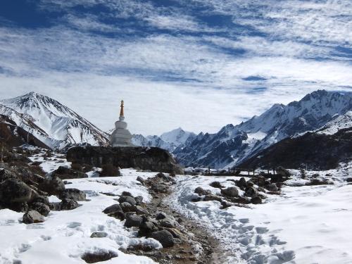 The entrance Stupa to Kyangin Gumba