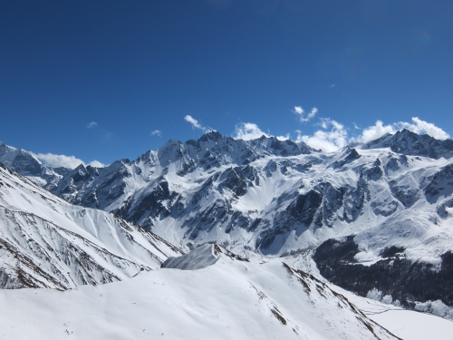 View from the summit proper (4773m)