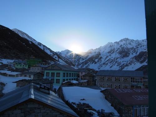Sunrise over Kyangin Gumba